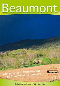 Couberture du bulletin municipal de Beaumont n°95 - juin 2014