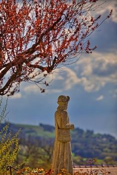 Statue de pèlerin