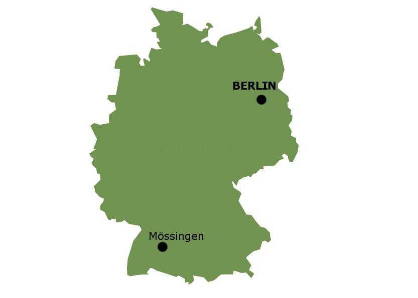 carte de situation de Mossingen