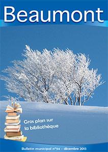 Couverture du bulletin municipal de décembre 2013