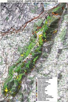 Carte des habitats naturels du Salève