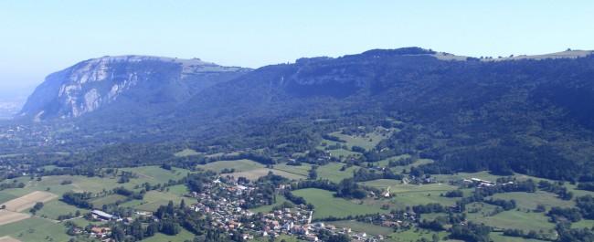 Vue aérienne du Salève et de Beaumont