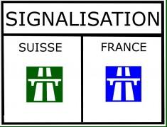 Différence de signalétique entre la France et la Suisse